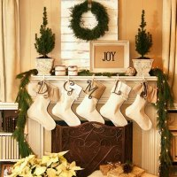 Christmas Decorated Mantels