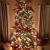 Christmas Tree Decorating Ideas Red And Gold