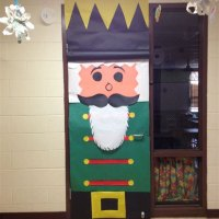 Decorated Christmas Doors In Schools