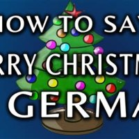 How To Say Merry Christmas In German Audio