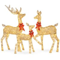 Outdoor Lighted Christmas Deer