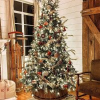 Rustic Decorated Christmas Trees