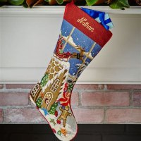 Sferra Christmas Stockings Needlepoint